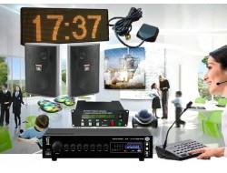 Комплект системы точного времени с трансляцией сообщений или звонков для школы