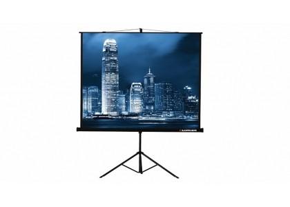 Портативный экран на штативе с плотным полотном и черной каймой по периметру