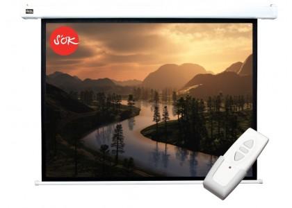 Настенный проекционный экран с электроприводом Cinema S'OK Motoscreen 200x150 c пультом ДУ в комплекте
